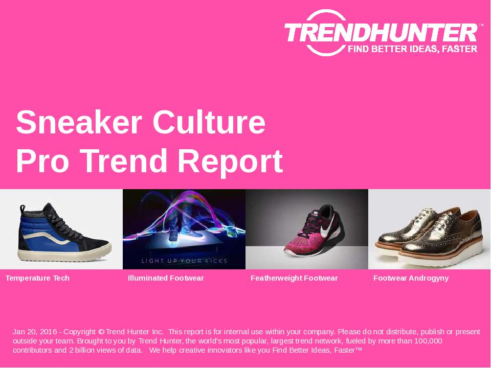 Sneaker Culture Trend Report Research