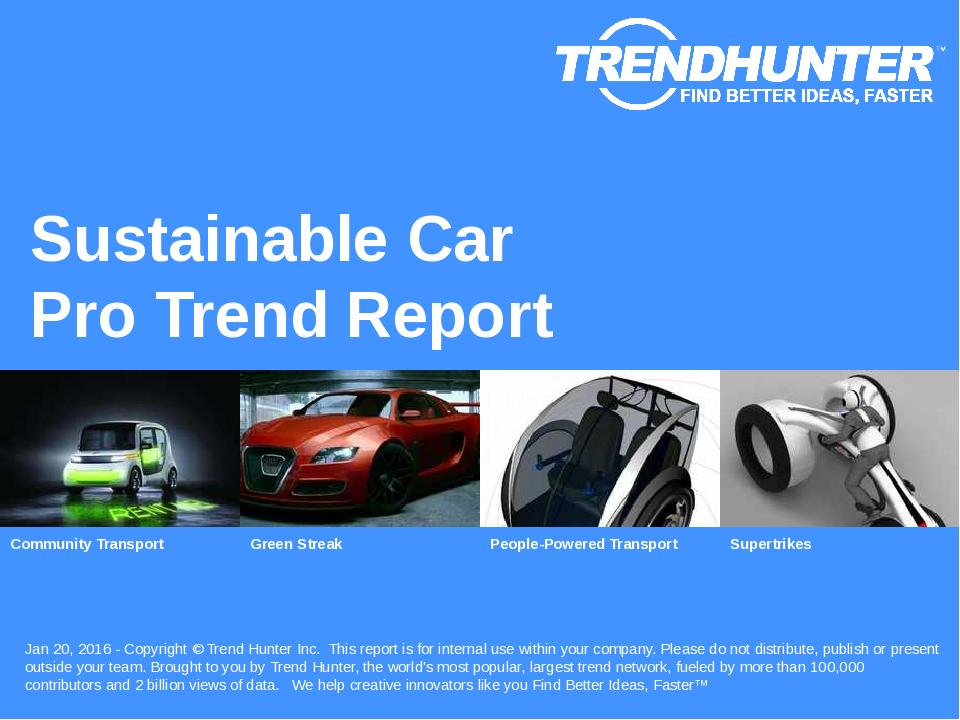 Sustainable Car Trend Report Research
