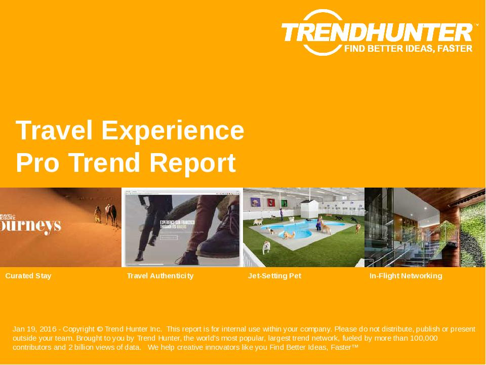 Travel Experience Trend Report Research