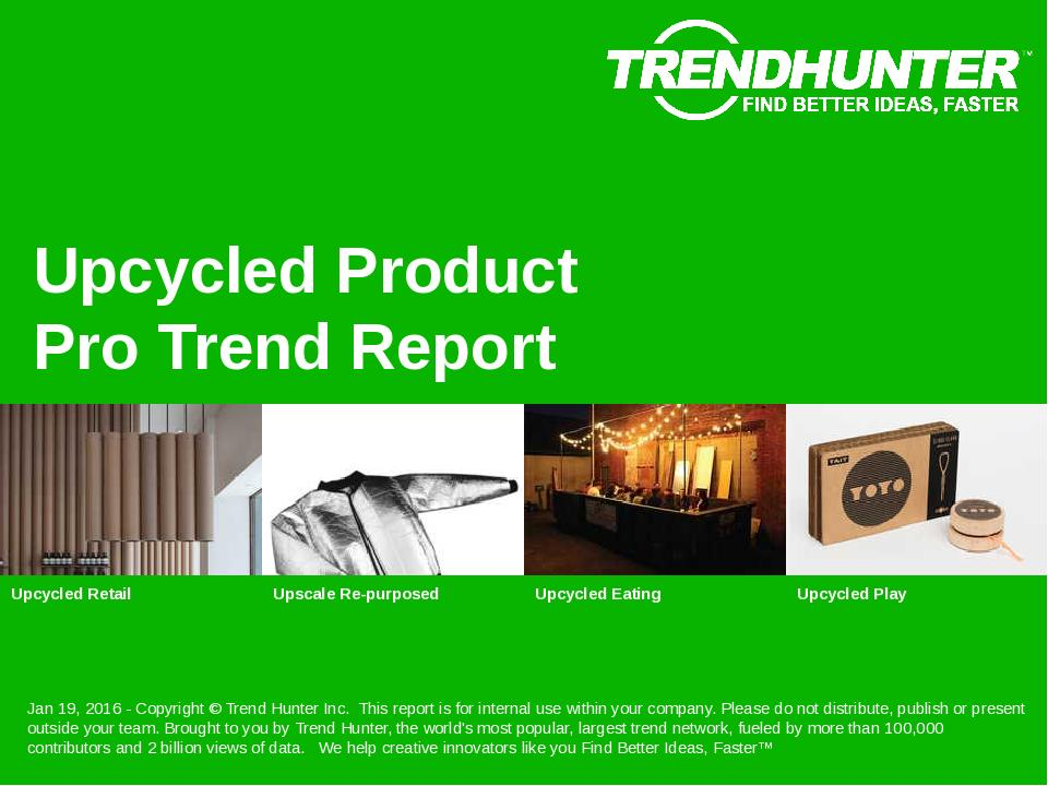 Upcycled Product Trend Report Research