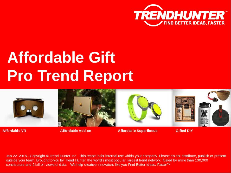 Affordable Gift Trend Report Research