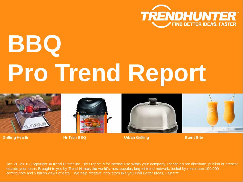 BBQ Trend Report Research