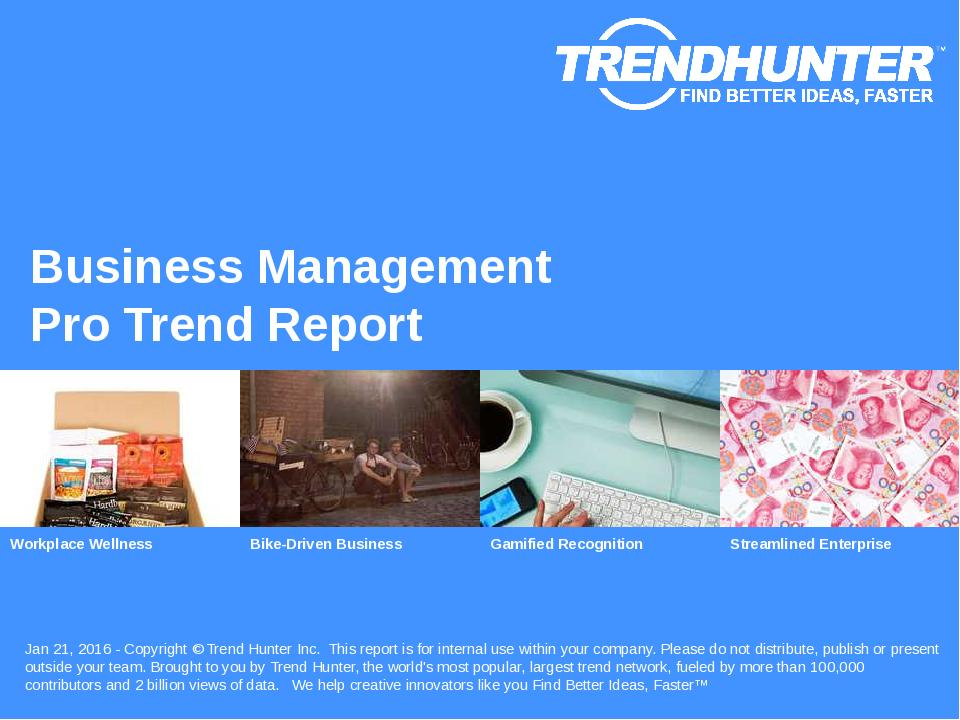 Business Management Trend Report Research