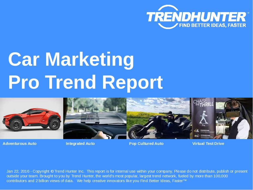 Car Marketing Trend Report Research