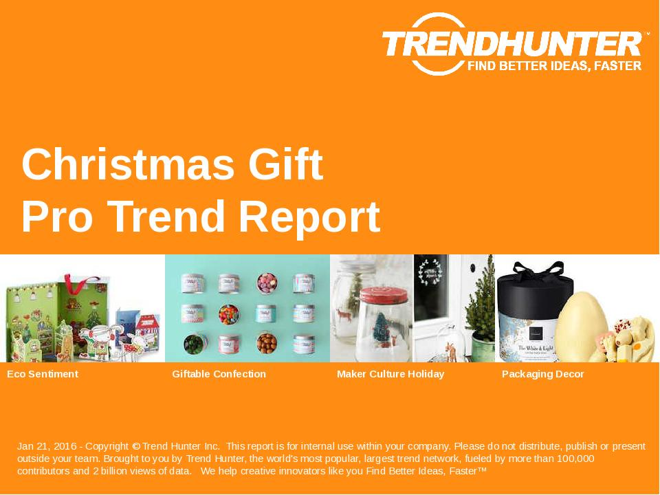 Christmas Gift Trend Report Research