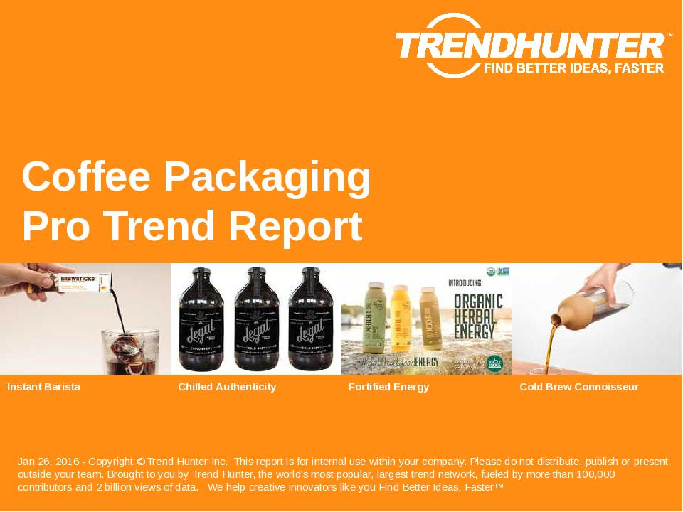 Coffee Packaging Trend Report Research