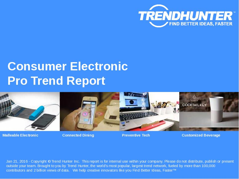 Consumer Electronic Trend Report Research