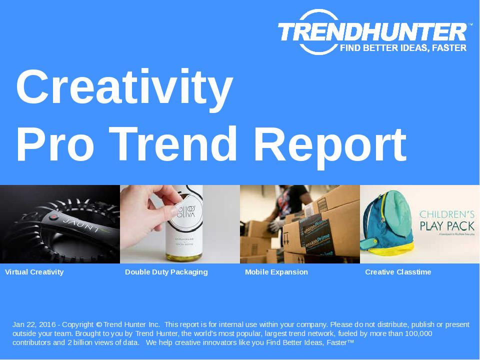 Creativity Trend Report Research