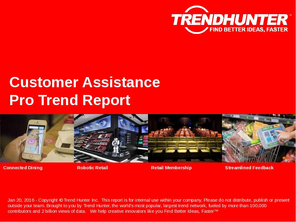 Customer Assistance Trend Report Research
