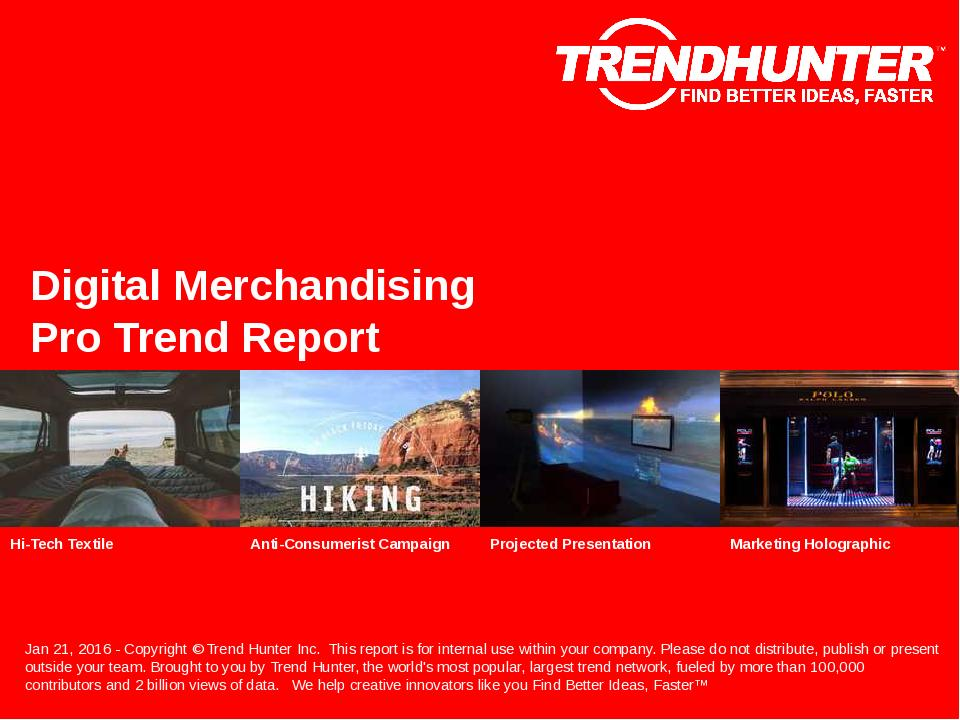 Digital Merchandising Trend Report Research
