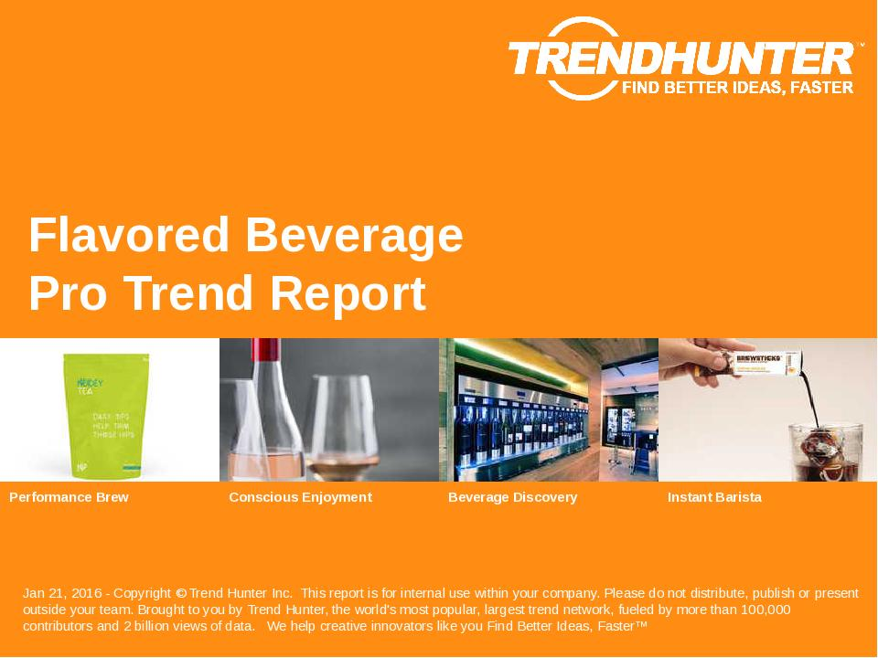 Flavored Beverage Trend Report Research
