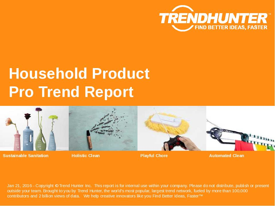 Household Product Trend Report Research