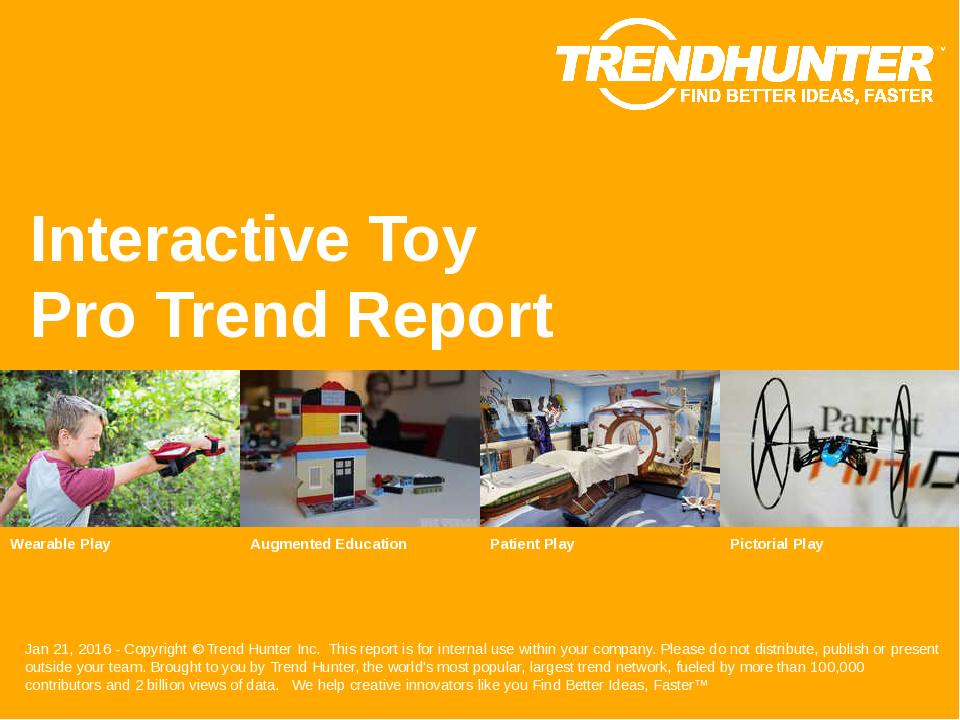 Interactive Toy Trend Report Research