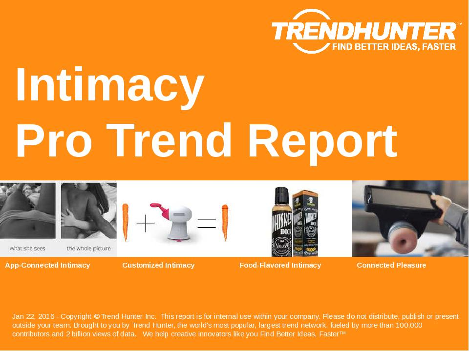 Intimacy Trend Report Research