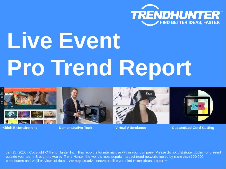 Live Event Trend Report Research