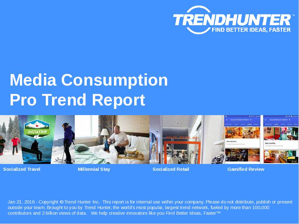 Media Consumption Trend Report Research