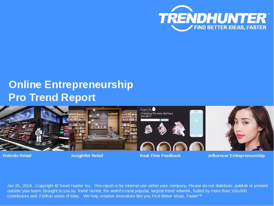 Online Entrepreneurship Trend Report Research