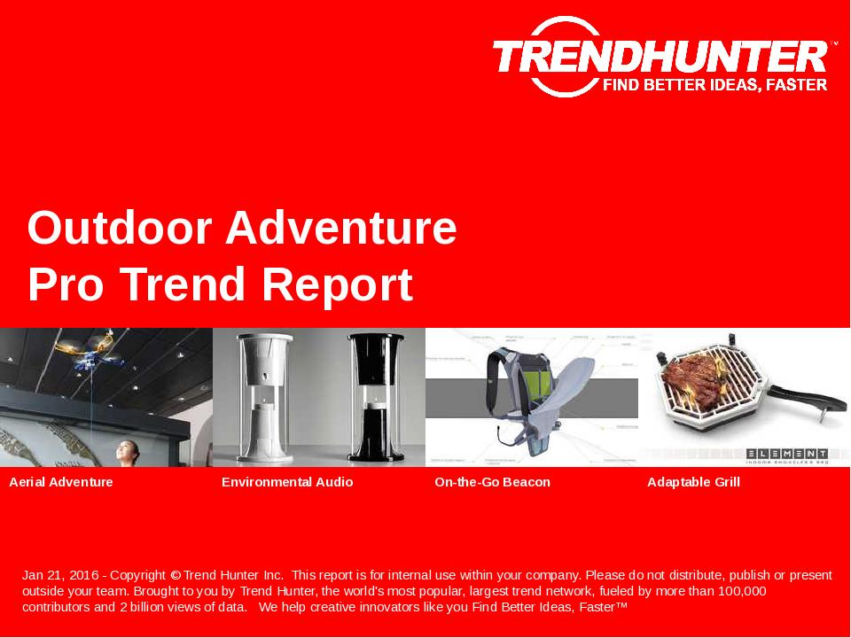 Outdoor Adventure Trend Report Research