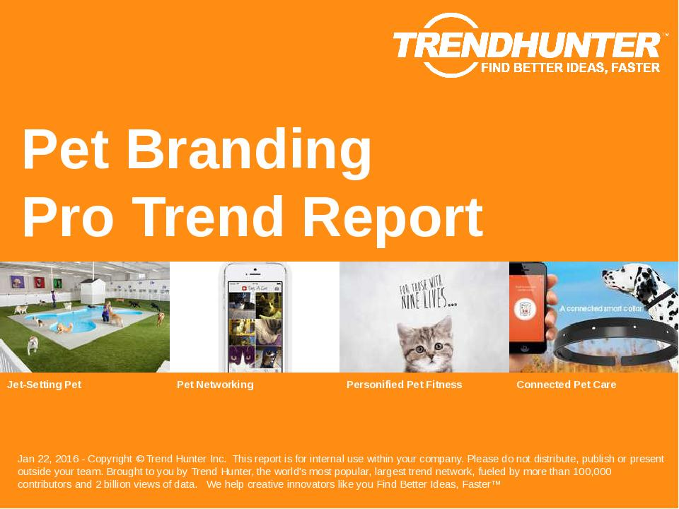 Pet Branding Trend Report Research