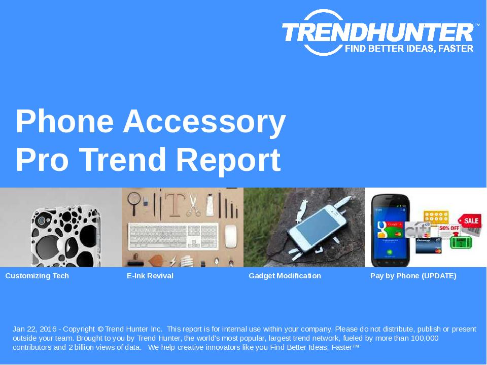 Phone Accessory Trend Report Research