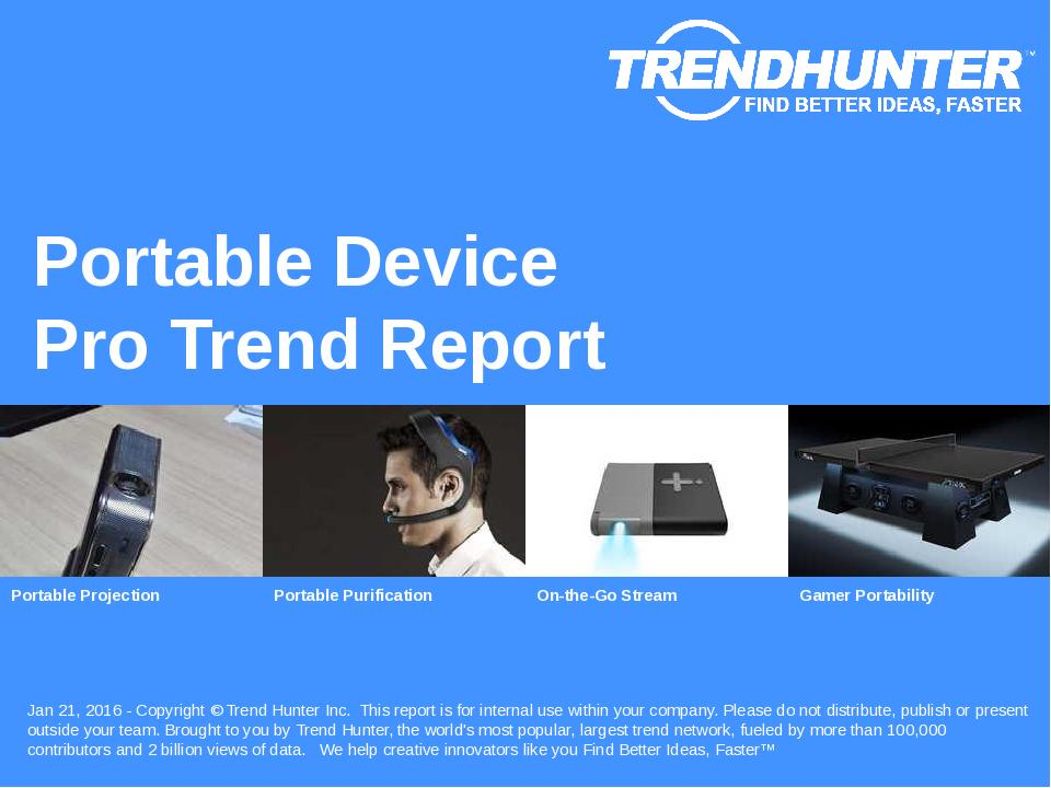 Portable Device Trend Report Research