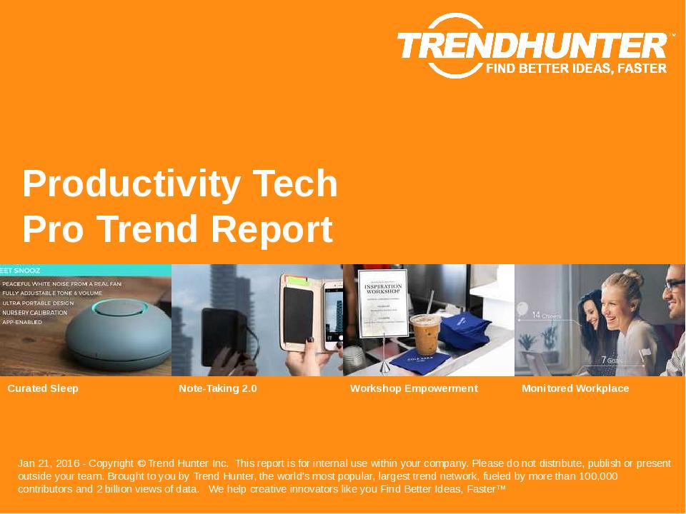 Productivity Tech Trend Report Research