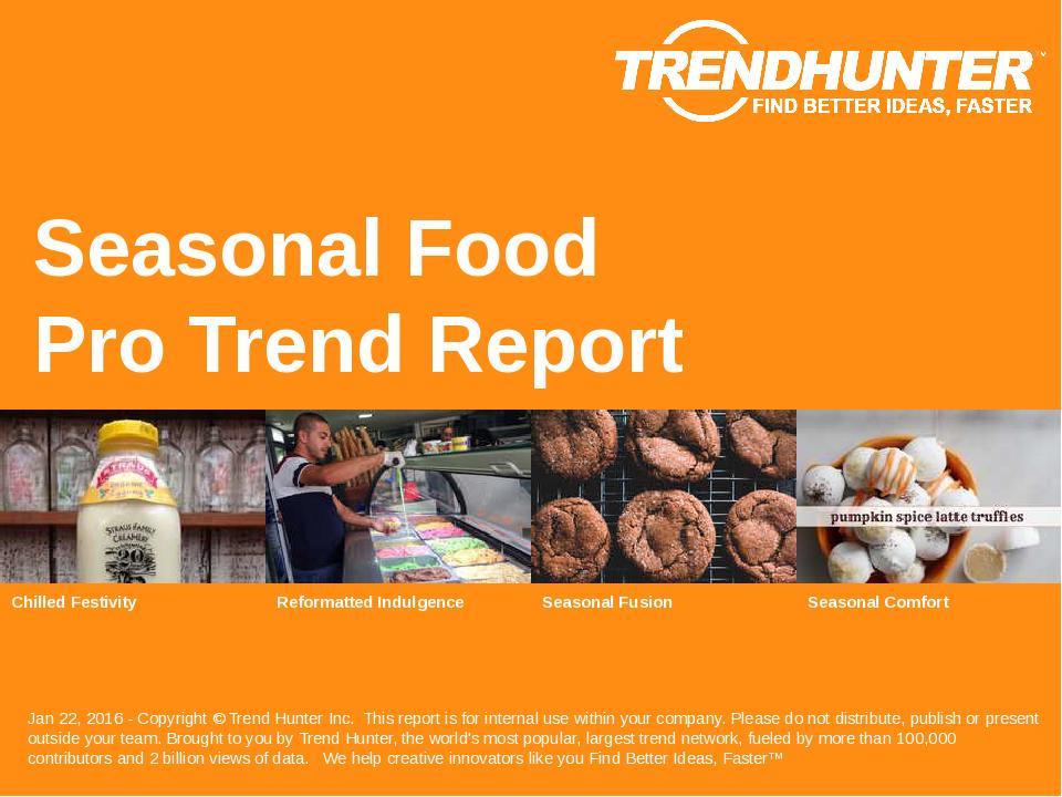 Seasonal Food Trend Report Research