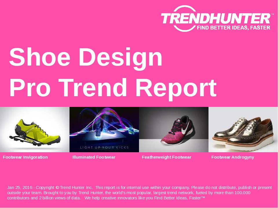 Shoe Design Trend Report Research