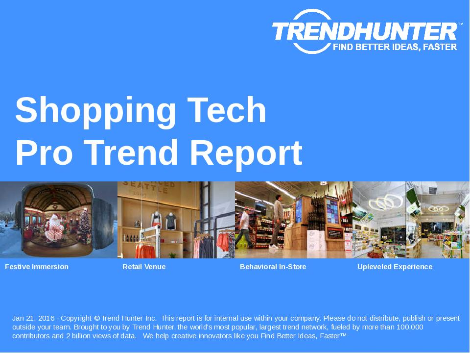 Shopping Tech Trend Report Research