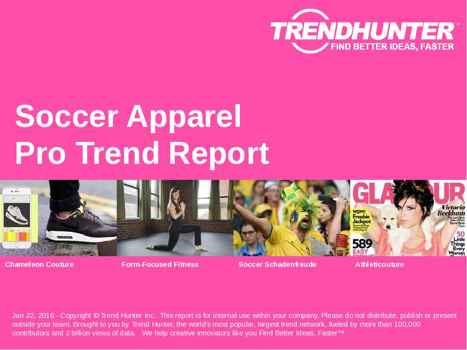 Soccer Apparel Trend Report Research