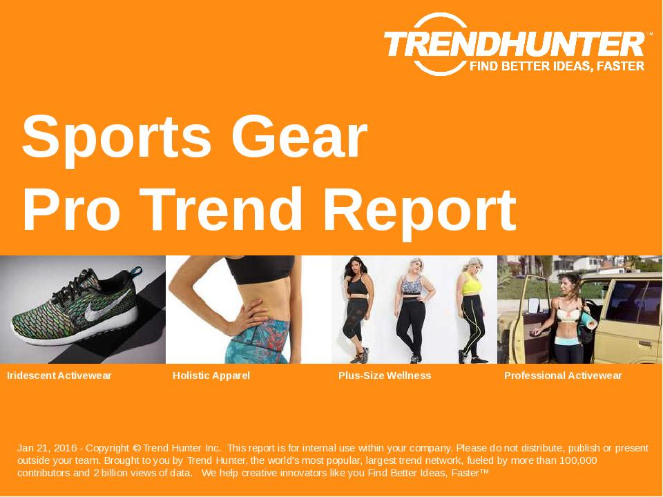 Sports Gear Trend Report Research