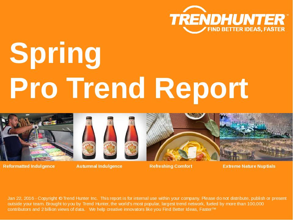 Spring Trend Report Research