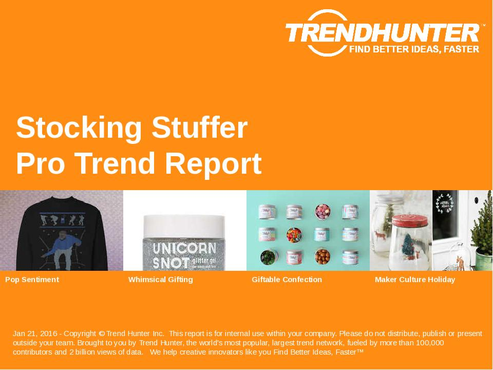Stocking Stuffer Trend Report Research