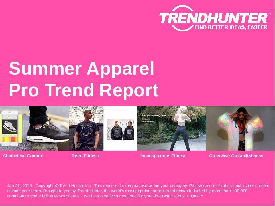Summer Apparel Trend Report Research