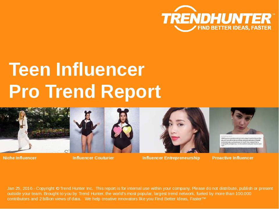 Teen Influencer Trend Report Research