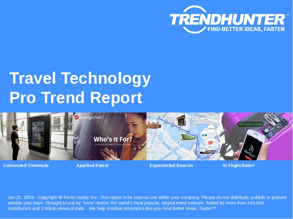 Travel Technology Trend Report Research