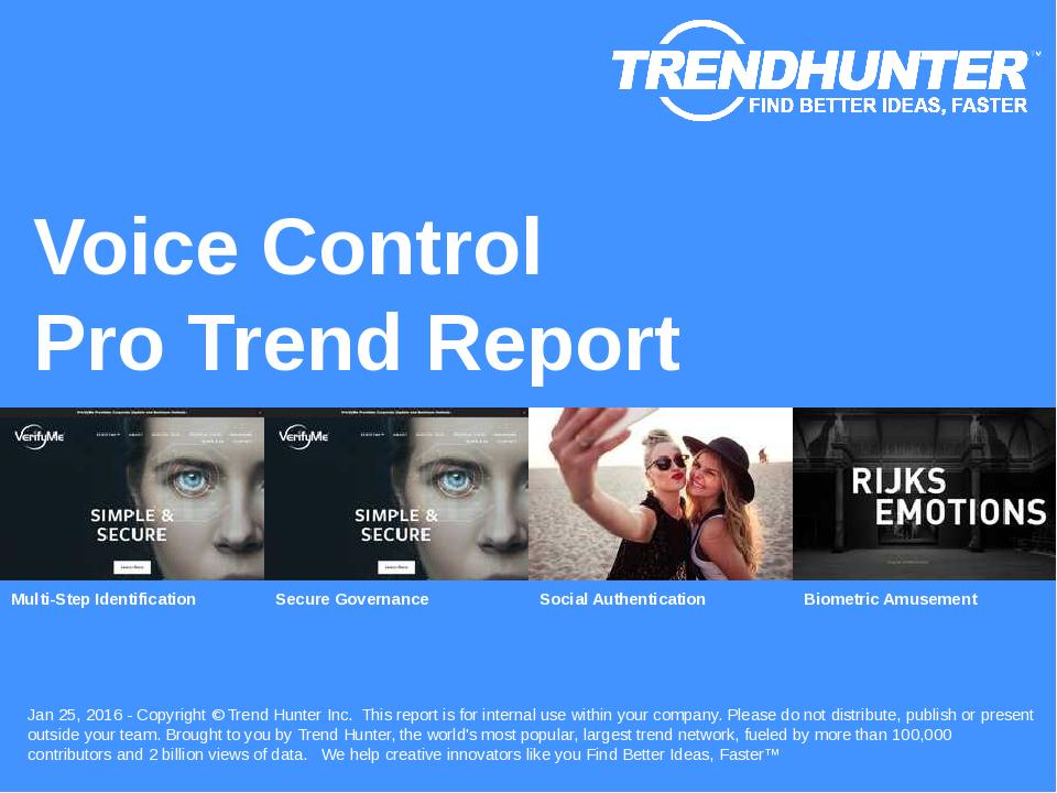 Voice Control Trend Report Research