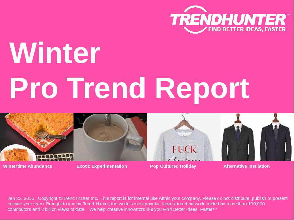 Winter Trend Report Research