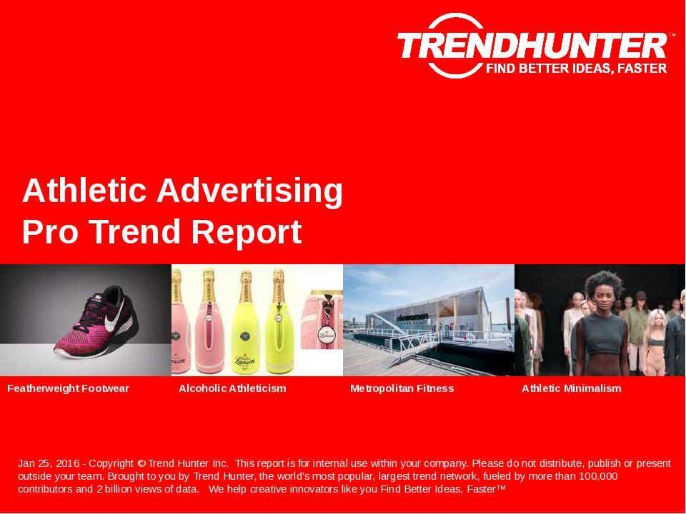 Athletic Advertising Trend Report Research
