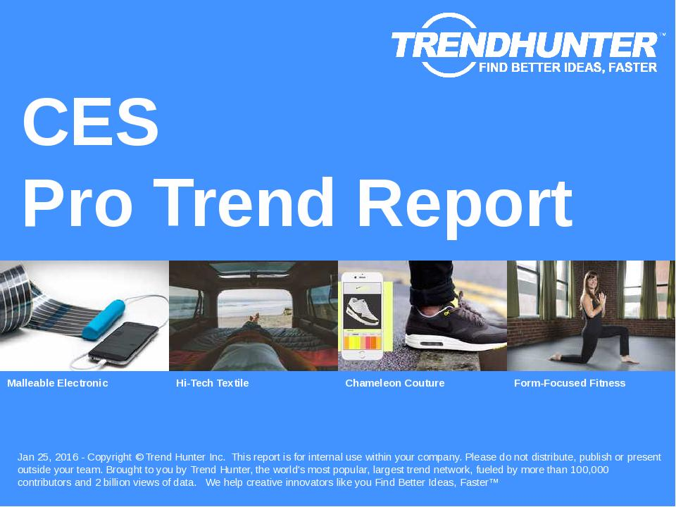 CES Trend Report Research
