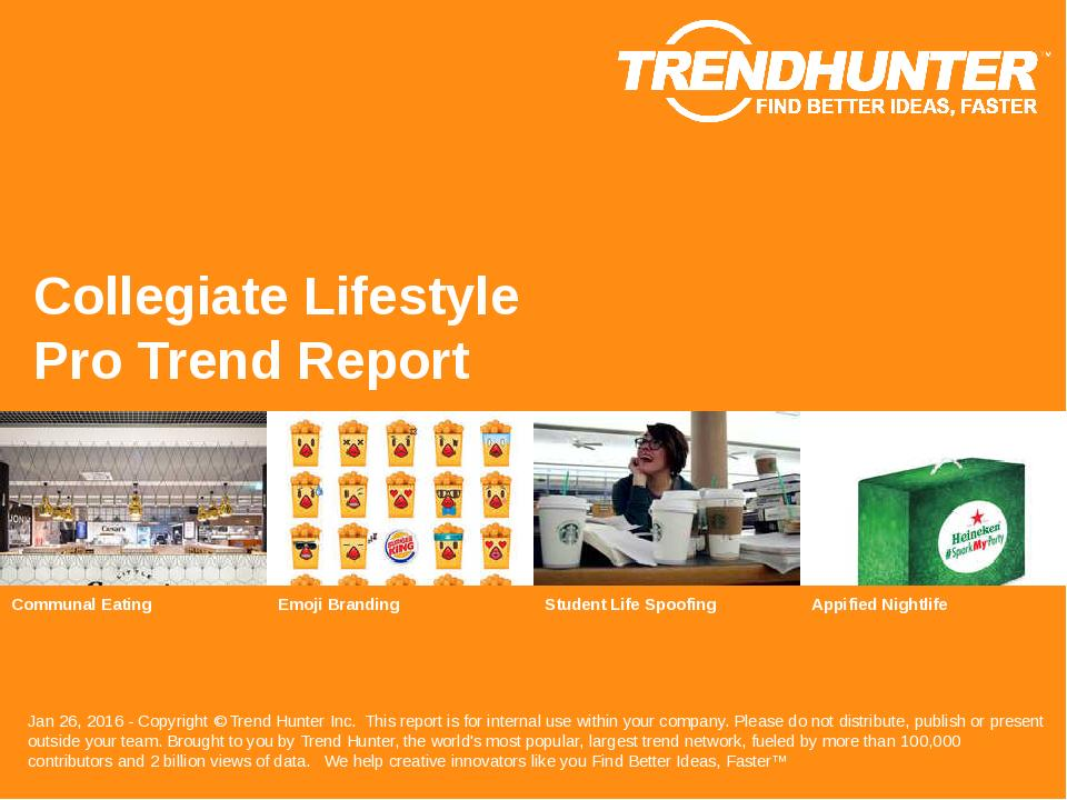 Collegiate Lifestyle Trend Report Research