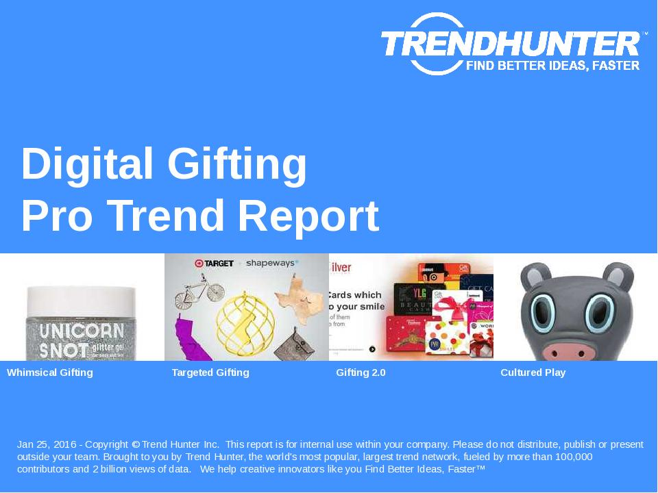 Digital Gifting Trend Report Research