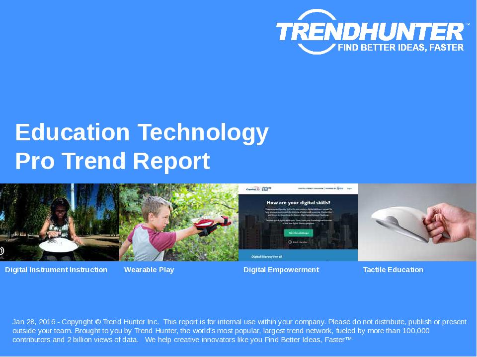 Education Technology Trend Report Research