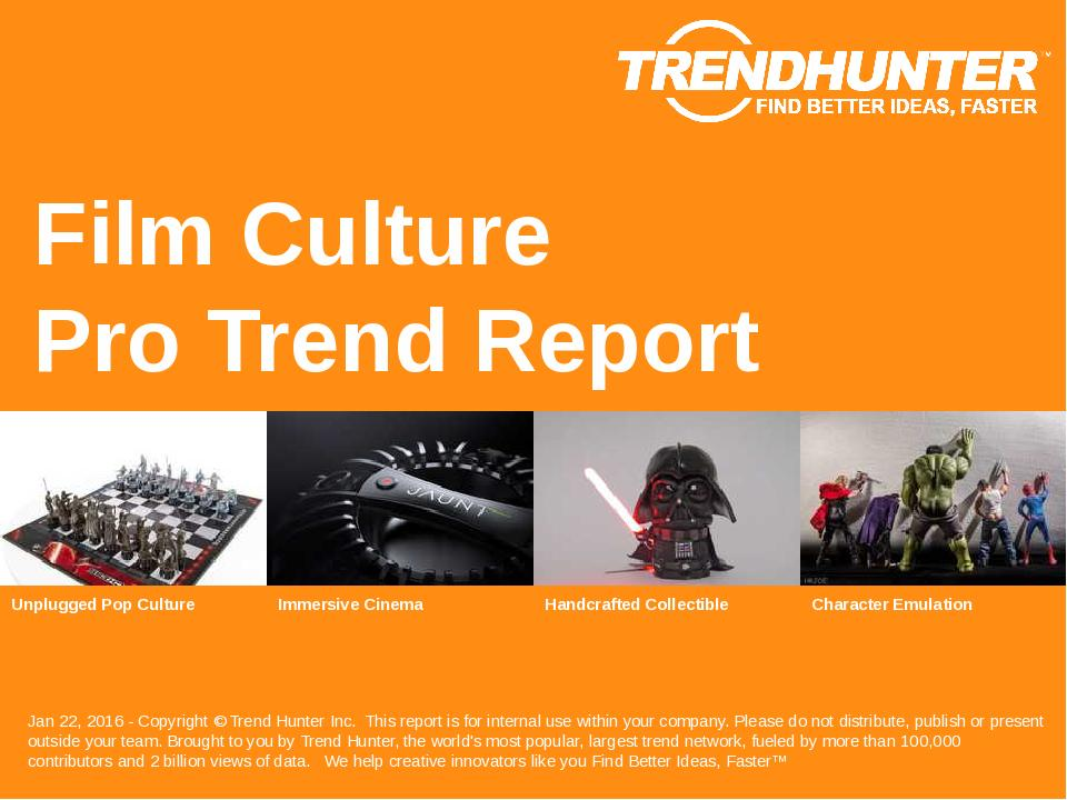 Film Culture Trend Report Research