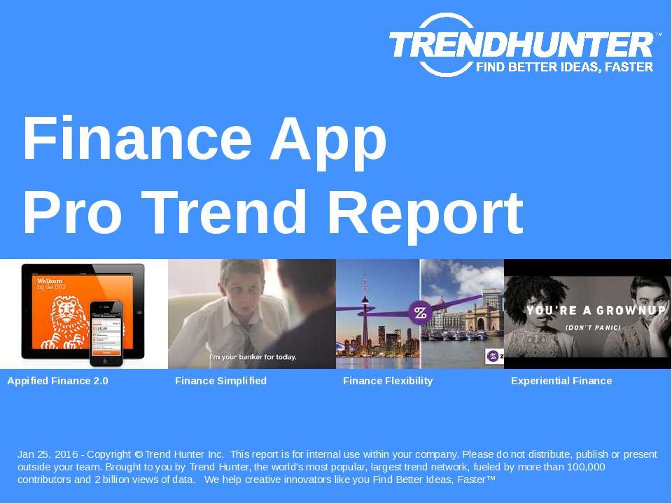 Finance App Trend Report Research