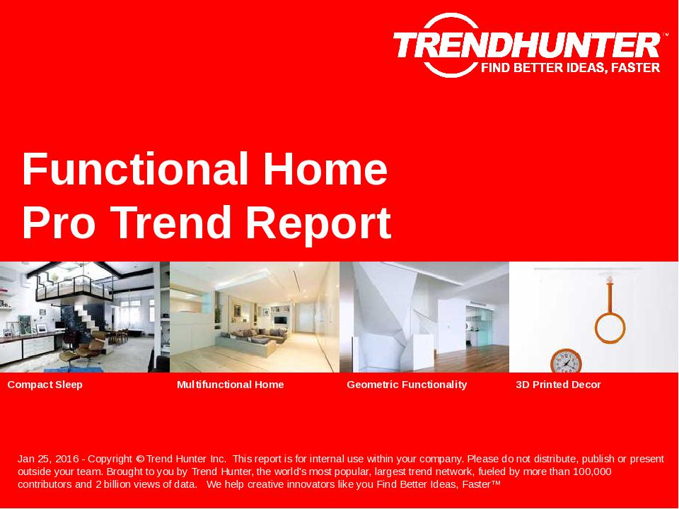 Functional Home Trend Report Research