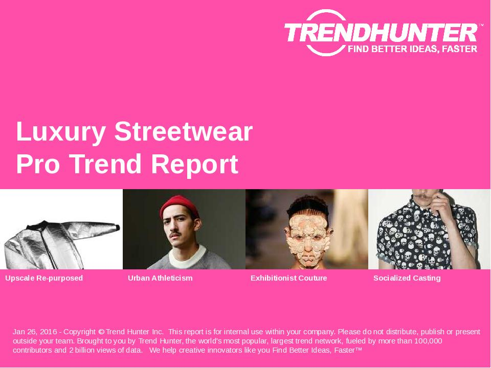 Luxury Streetwear Trend Report Research