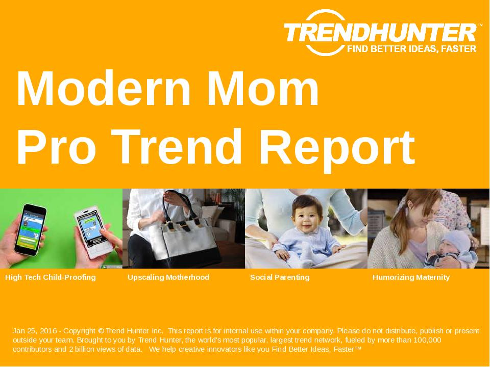 Modern Mom Trend Report Research