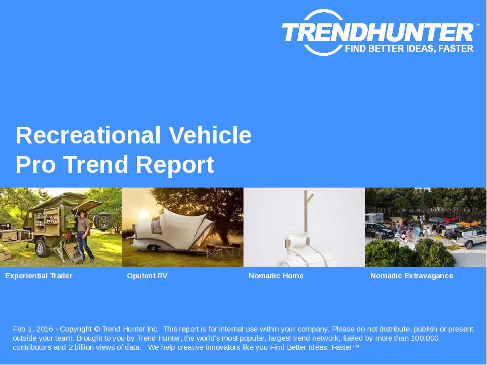 Recreational Vehicle Trend Report Research