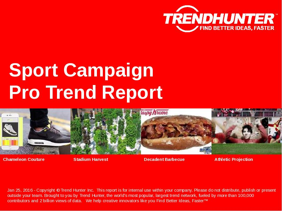 Sport Campaign Trend Report Research